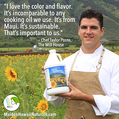 maui sunflower cooking oil